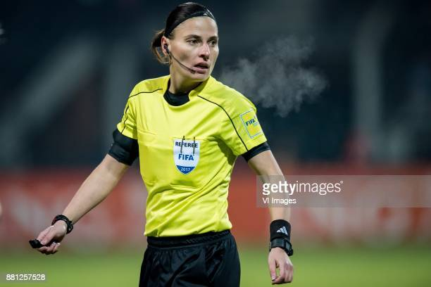 referee Anastasia Pustovoitova during the FIFA Women's World Championship Qualifier match between Netherlands Women v Ireland Women at the Goffert...