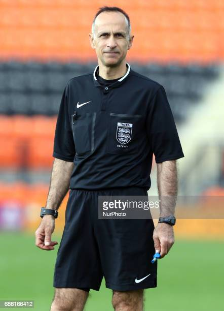 Referee Andreas Anastasiou during Women's Super League 2 Spring Series match between London Bees against Everton Ladies at The Hive Barnet FC on 20...