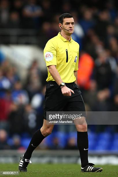Referee Andrew Madley during the Sky Bet Championship match between Ipswich Town and Reading at Portman Road on January 25 2014 in Ipswich England