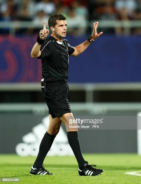 Referee Andrés Cunha during the FIFA U20 World Cup Korea Republic 2017 Round of 16 match between Korea Republic and Portugal at Cheonan Baekseok...