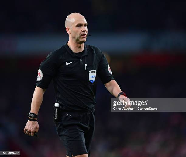 Referee Anthony Taylor during the Emirates FA Cup QuarterFinal match between Arsenal and Lincoln City at Emirates Stadium on March 11 2017 in London...