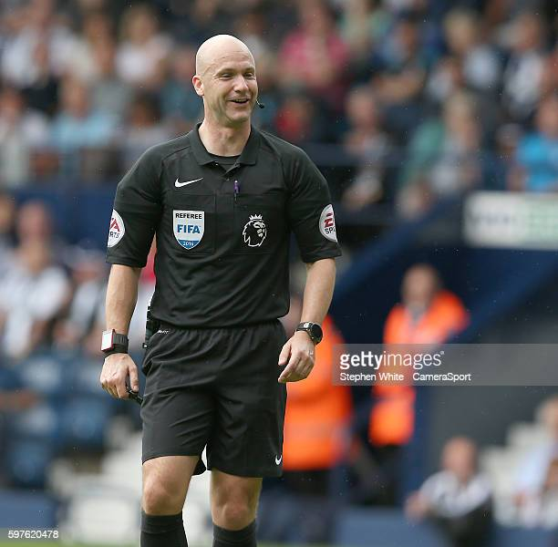 Referee Anthony Taylor during the Premier League match between West Bromwich Albion and Middlesbrough at The Hawthorns on August 28 2016 in West...