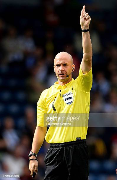 Referee Anthony Taylor in action during a Pre Season Friendly between West Bromwich Albion and Bologna at The Hawthorns on August 10 2013 in West...