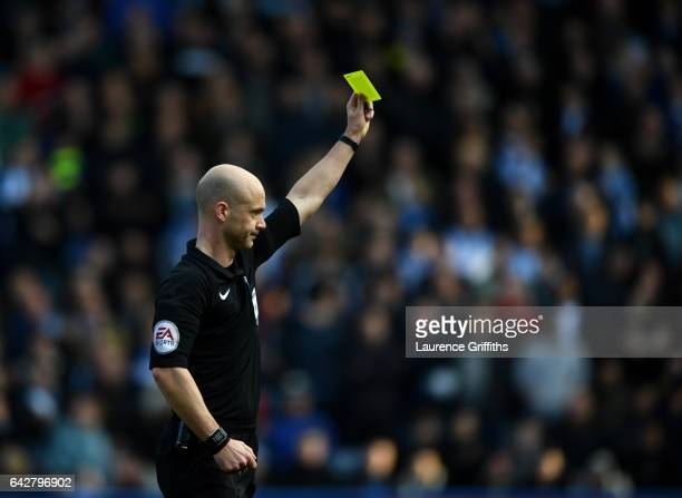 Referee Anthony Taylor in action during the the Emirates FA Cup Fifth Round match between Huddersfield Town and Manchester City at John Smith's...