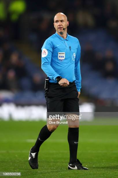 Referee Anthony Taylor looks on during the Premier League match between Burnley FC and Newcastle United at Turf Moor on November 26 2018 in Burnley...