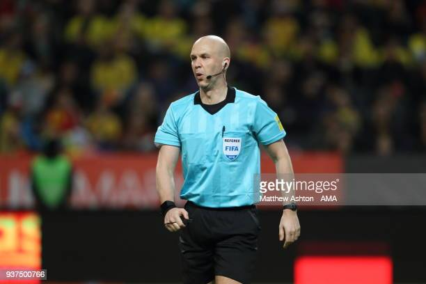 Referee Anthony Taylor of Sweden during the International Friendly match between Sweden and Chile at Friends arena on March 24 2018 in Solna Sweden