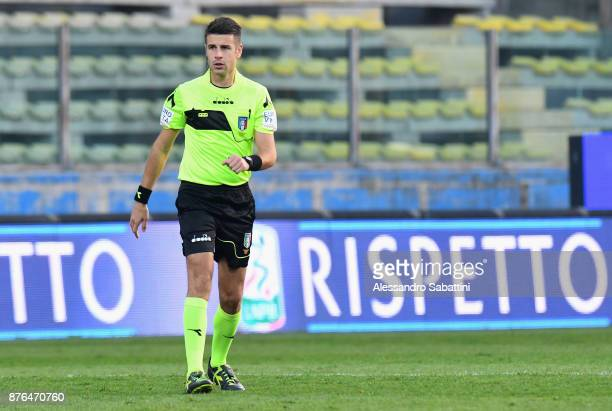 referee Antonio Giua during the Serie B match between Parma Calcio and Ascoli Picchio at Stadio Ennio Tardini on November 18 2017 in Parma Italy