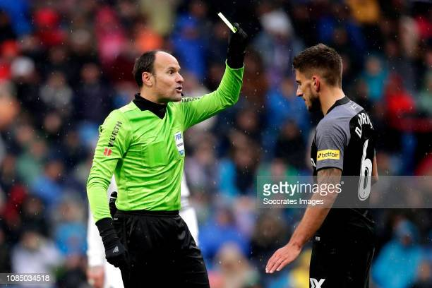 referee Antonio Mateu Lahoz Daniel Carrico of Sevilla FC during the La Liga Santander match between Real Madrid v Sevilla at the Santiago Bernabeu on...