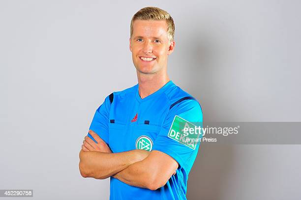 Referee Arne Aarnink poses during a portrait session during the Annual Referee Course on July 17 2014 in Grassau Germany