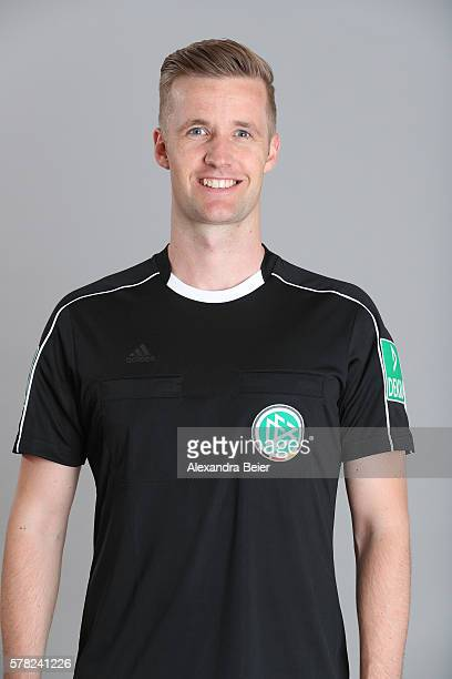 Referee Arne Aarnink poses during the DFB referee team presentation on July 13 2016 in Grassau Germany