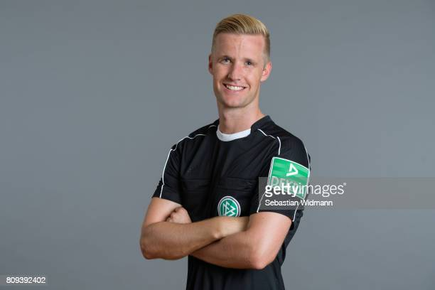 Referee Arne Aarnink poses during the DFB referee team presentation on July 5 2017 in Grassau Germany
