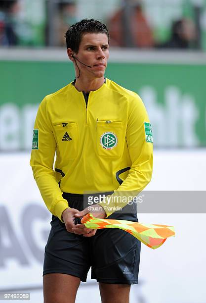 Referee Assistant Robert Kempter during the Bundesliga match between VfL Wolfsburg and VfL Bochum at Volkswagen Arena on March 6 2010 in Wolfsburg...