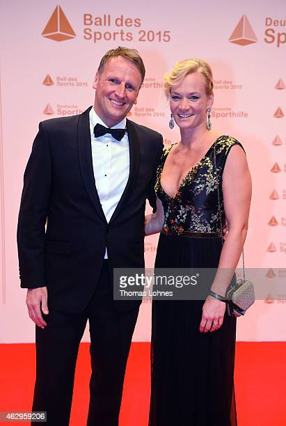 Referee Bibiana Steinhaus and Stefan Kiefer attend the German Sports Gala 'Ball des Sports' on February 7 2015 in Wiesbaden Germany