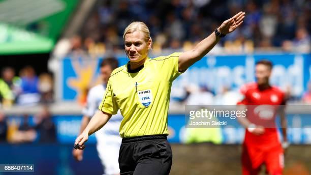 Referee Bibiana Steinhaus during the third league match between MSV Duisburg and FSV Zwickau at schauinsland reisen arena on May 20 2017 in Duisburg...