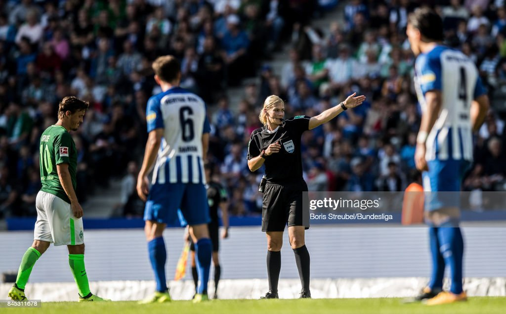Bibiana Steinhaus, Bundesliga Referee - The police officer made history by becoming the first female referee in the Bundesliga on September 10, 2017, overseeing the 1-1 draw between Werder Bremen and Hertha Berlin.