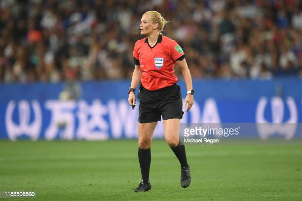 Referee Bibiana Steinhaus looks on during the 2019 FIFA Women's World Cup France group A match between France and Norway at Stade de Nice on June 12...