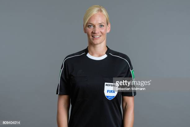 Referee Bibiana Steinhaus poses during the DFB referee team presentation on July 5 2017 in Grassau Germany