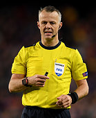 barcelona spain referee bjoern kuipers seen