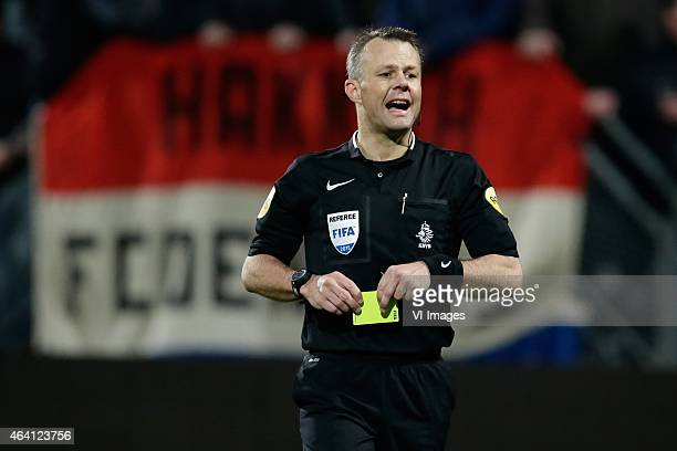 referee Bjorn Kuipers during the Dutch Eredivisie match between ADO Den Haag and PEC Zwolle at Kyocera stadium on February 21 2015 in The Hague The...