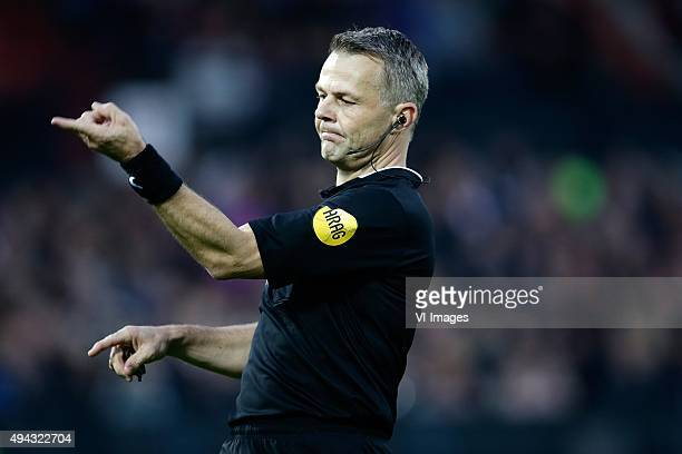 referee Bjorn Kuipers during the Dutch Eredivisie match between Feyenoord rotterdam and AZ Alkmaar at the Kuip on October 25 2015 in Rotterdam The...