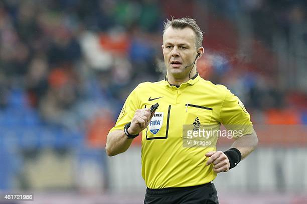 Referee Bjorn Kuipers during the Dutch Eredivisie match between Willem II Tilburg and GO Ahead Eagles at Koning Willem II stadium on January 18 2015...