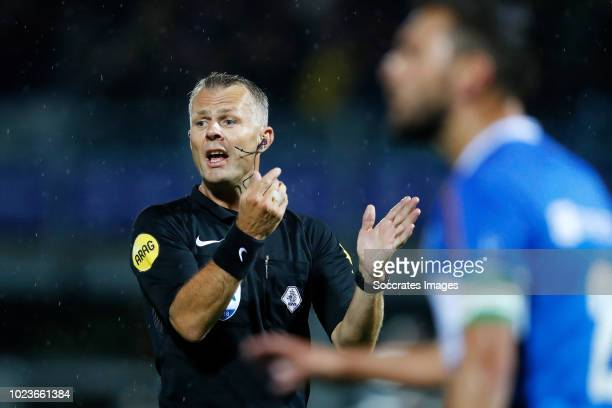 referee Bjorn Kuipers during the Dutch Eredivisie match between PEC Zwolle v PSV at the MAC3PARK Stadium on August 25 2018 in Zwolle Netherlands