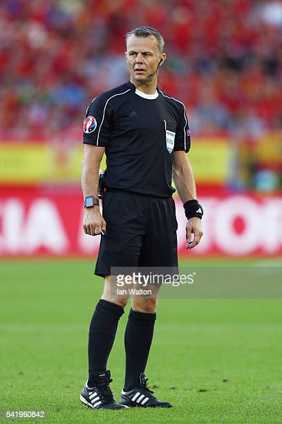Referee Bjorn Kuipers looks on during the UEFA EURO 2016 Group D match between Croatia and Spain at Stade Matmut Atlantique on June 21 2016 in...