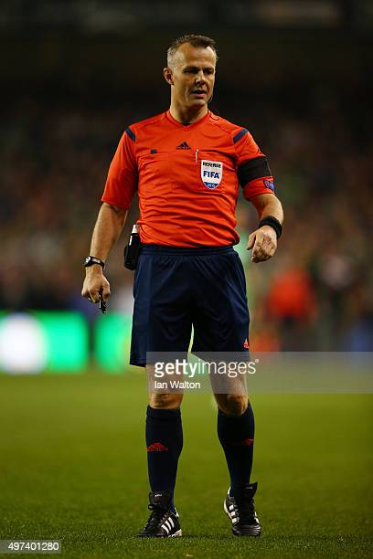 Referee Bjorn Kuipers of Netherlands looks on during the UEFA EURO 2016 Qualifier play off second leg match between Republic of Ireland and Bosnia...