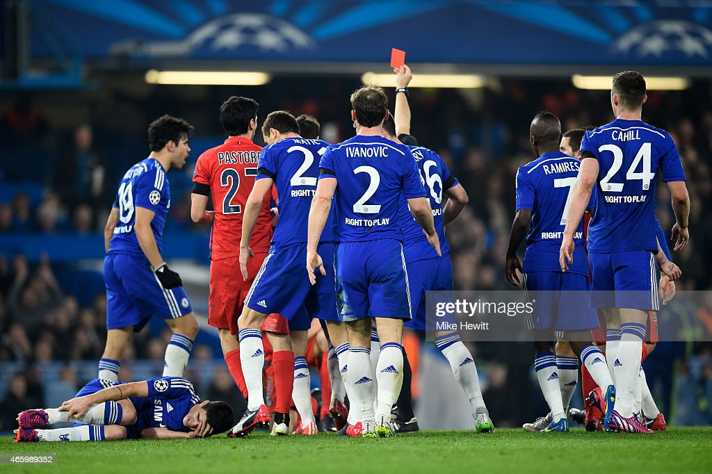 Chelsea v Paris Saint-Germain - UEFA Champions League Round of 16 : News Photo