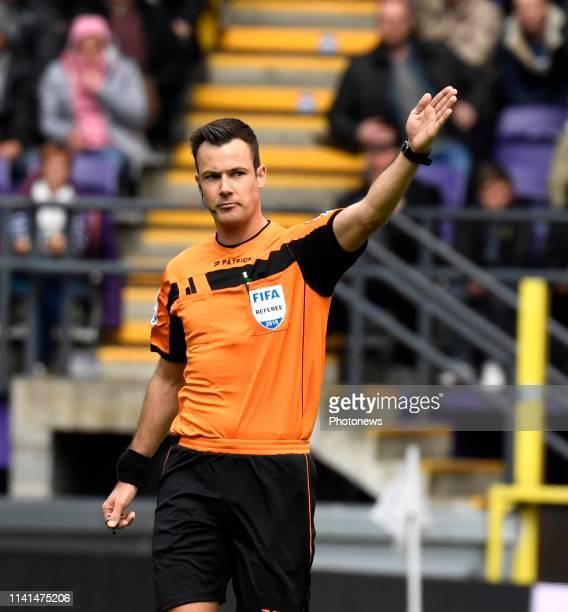 referee Bram Van Driessche pictured during the Jupiler Pro League match between RSC Anderlecht and Standard de Liege at the Constant Vanden Stock...