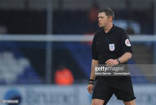 Referee Brett Huxtable during the Sky Bet League One match between Bristol Rovers and Fleetwood Town at Memorial Stadium on December 22 2018 in...