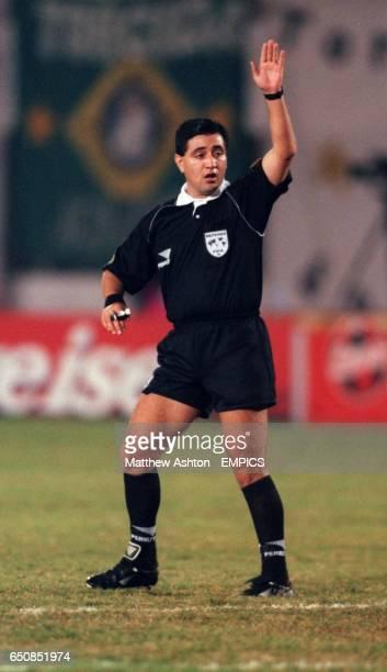 Referee Byron Moreno