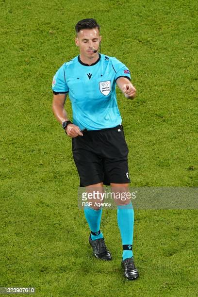 Referee Carlos Del Cerro Grande during the UEFA Euro 2020 match between France and Germany at Allianz Arena on June 15, 2021 in Munich, Germany
