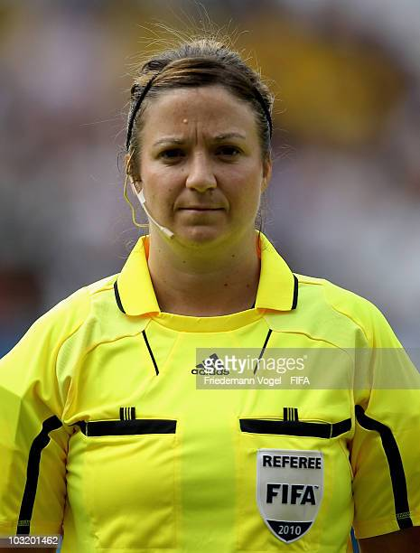 Referee Carol Anne Chenard poses during the FIFA U20 Women's World Cup Final match between Germany and Nigeria at the FIFA U20 Women's World Cup...