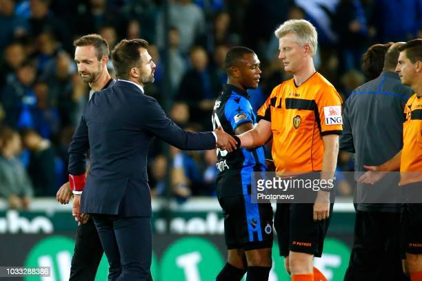 referee Chistof Dierick Ivan Leko head coach of Club Brugge during the Jupiler Pro League match between Club Brugge and KSC Lokeren OV at the Jan...