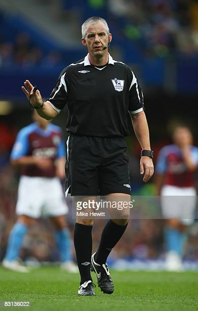Referee Chris Foy looks on during the Barclays Premier League match between Chelsea and Aston Villa at Stamford Bridge on October 5 2008 in London...