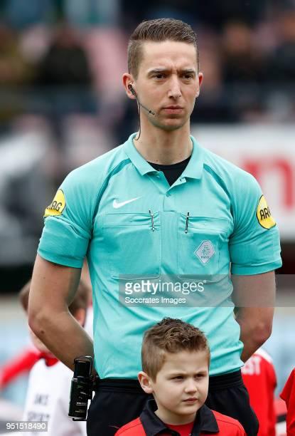 referee Christaan Bax during the Dutch Jupiler League match between NEC Nijmegen v Telstar at the Goffert Stadium on April 2 2018 in Nijmegen...