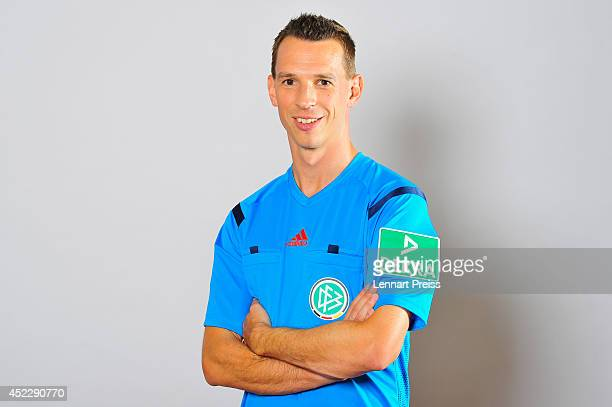 Referee Christian Bandurski poses during a portrait session during the Annual Referee Course on July 17 2014 in Grassau Germany