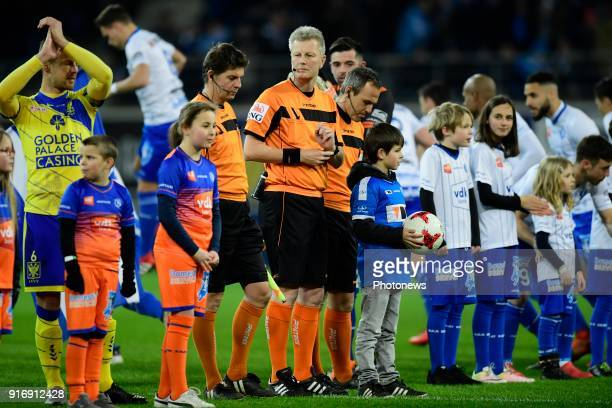 Referee Christof Dierick pictured before the Jupiler Pro League match between KAA Gent and Sint Truidense VV at the Ghelamco Arena on February 10...