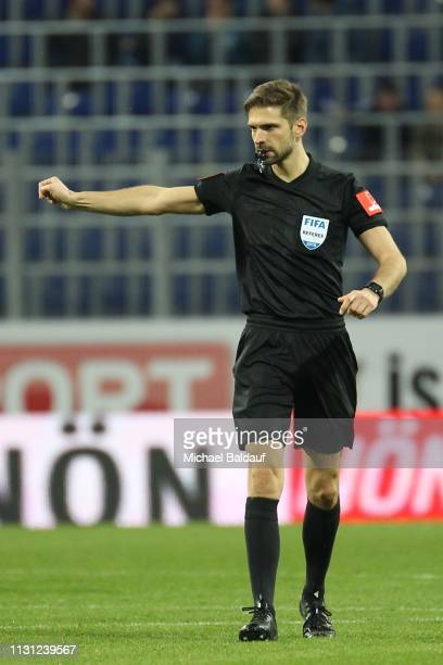 referee Christopher Jaeger during the tipico Bundesliga match between SKN St Poelten and SV Mattersburg at NV Arena on March 17 2019 in Sankt Poelten...