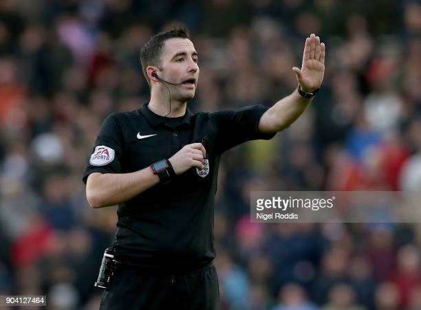 Referee Christopher Kavanagh during The Emirates FA Cup Third Round match between Middlesbrough and Sunderland at the Riverside Stadium on January 6...