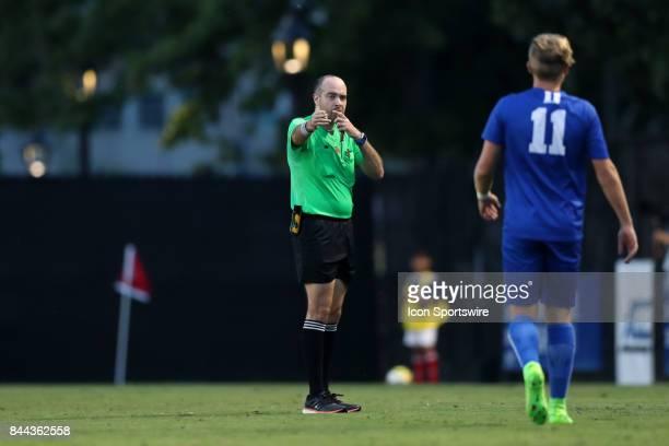 Referee Christopher Spivey The Duke University Blue Devils hosted the Presbyterian College Blue Hose on September 5 2017 at Koskinen Stadium in...