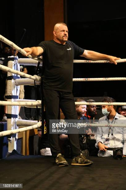Referee Chuck Liddell during the celebrity boxing match at Showboat Atlantic City on June 11, 2021 in Atlantic City, New Jersey.