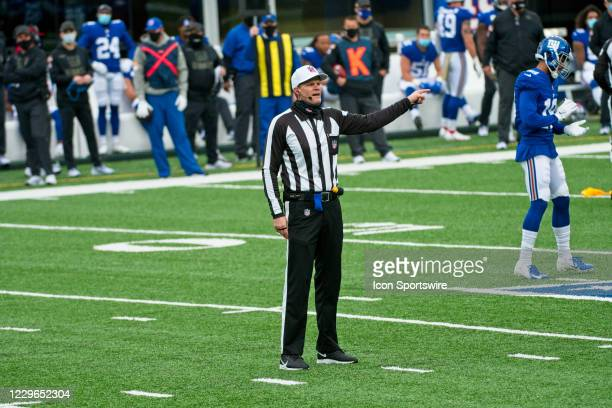 Referee Clay Martin makes a call during the game between the Philadelphia Eagles and the New York Giants on November 15, 2020 at MetLife Stadium in...