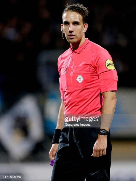 Referee Clay Ruperti during the Dutch Keuken Kampioen Divisie match between Roda JC v De Graafschap at the Parkstad Limburg Stadium on September 27,...