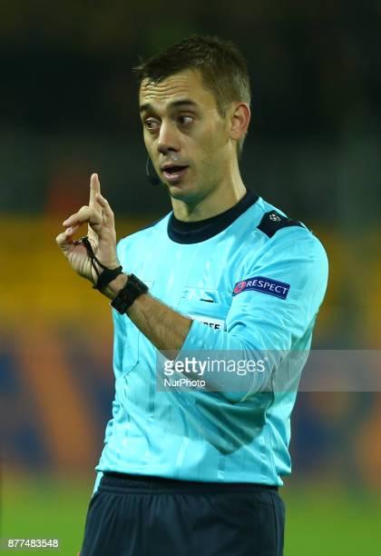 Referee Clement Turpin of France during UEFA Champion League Group H Borussia Dortmund between Tottenham Hotspur played at Westfalenstadion Dortmund...