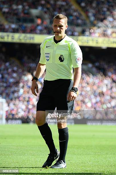 Referee Craig Pawson of United Kingdom looks on during the Premier League match between Crystal Palace FC and West Bromwich Albion FC at Selhurst...