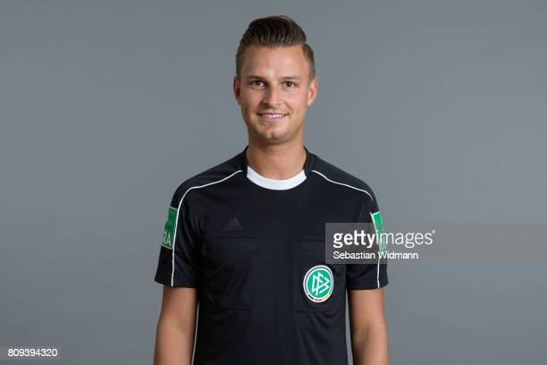 Referee Daniel Schlager poses during the DFB referee team presentation on July 5 2017 in Grassau Germany