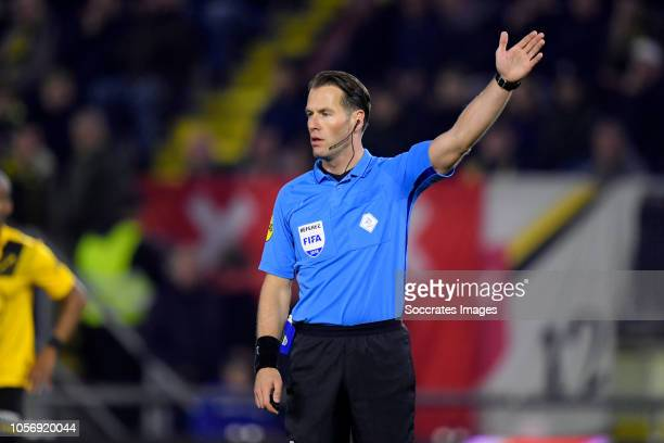 referee Danny Makkelie during the Dutch Eredivisie match between NAC Breda v Heracles Almelo at the Rat Verlegh Stadium on November 3 2018 in Breda...