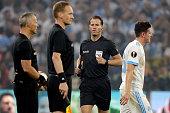 lyon france referee danny makkelie during